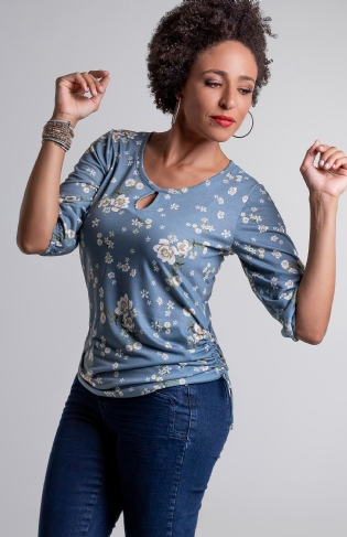 Blusa Colisse Lateral Floral