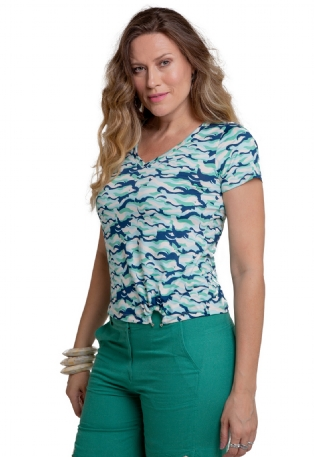 Blusa Argola Ondas Do Mar
