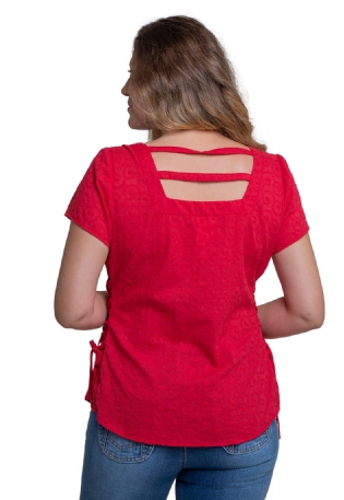 Blusa V Cotton Bordado Shell
